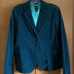 Women's Gap velvet blazer.